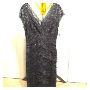 Grey beaded lace dress